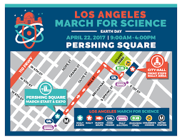 Los Angeles Area Map by March For Science La Day Of Information