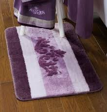 Purple Bathroom Rugs Purple Lavender Winter Blush Scroll Bath Rug Towels Accessory Set