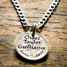 necklace with names engraved silver name necklace names and birthdate engraved on a mercury