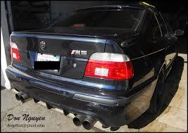 bmw e39 m5 sedan tinted lights vinyl wrap wannabe racer