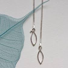 sterling silver necklace clasp images Elegant sterling silver leaves necklace by louise mary designs jpg