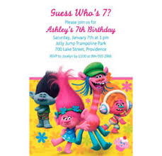 custom trolls banners invitations u0026 thank you notes party city
