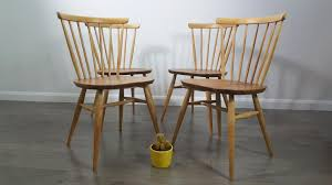 Ercol Windsor Rocking Chair Windsor Bow Top Chairs By Lucian Ercolani For Ercol 1960s Set Of