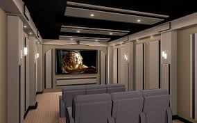modern home theater interior design with best theater seating