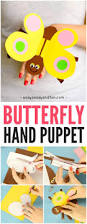 butterfly paper hand puppet puppet butterfly and craft