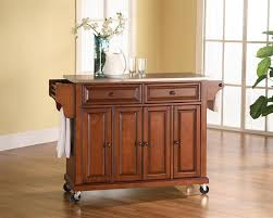 buy stainless steel top kitchen cart island in classic cherry