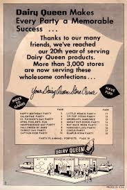 dairy queen thanksgiving and everything else too dairy queen party book 1960