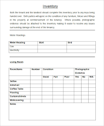 tenancy inventory template