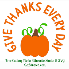 give thanks every day free cutting file