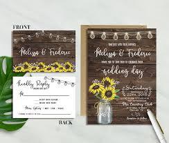 barn wedding invitations 16 sunflower wedding invitations for fall weddings mid