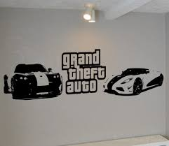 auto wall art shenra com grand theft auto wall art deal wall decal wall art