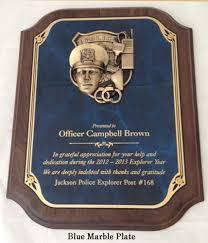 retirement plaque retirement plaques officer service plaques