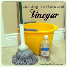 cleaning tile floors with vinegar tested