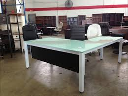 Glass L Shaped Desk L Desk Glass Muallimce