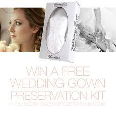 wedding dress preservation kit wedding gown preservation kit giveaway sponsors oncewed