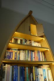 Canoe Shaped Bookshelf Boat Shaped Bookcase Organic Geometry Bespoke Furniture Makers