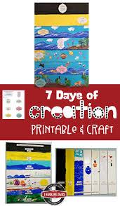 7 days of creation printable and craft homeschool and