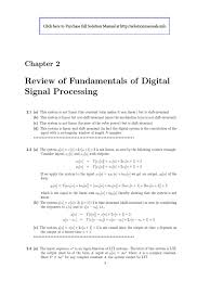 solution manual for theory and applications of digital speech