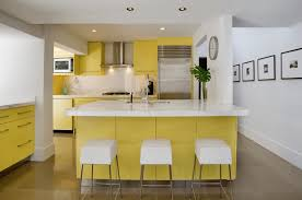 kitchen color ideas freshome yellow and white kitchen