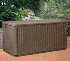 suncast resin wicker storage outdoor garden seat gardensite co uk