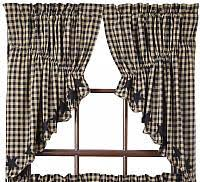 Prairie Curtains Primitive Country Prairies Swag Curtains