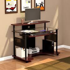 Z Line Belaire Glass L Shaped Computer Desk Desks Od221 01ws Z Line Desk Replacement Parts Z Line Designs