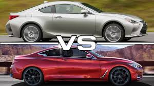 lexus sedan vs acura sedan lexus rc vs infiniti q60 road test youtube