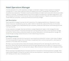 Hotel General Manager Resume Samples by General Manager Job Description Job Description For Convenience