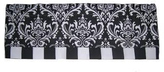 Black And White Valance Amazon Com Rlf Home Royal Banded Damask Straight Valance Grey