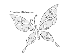 butterfly stencil printable 14434