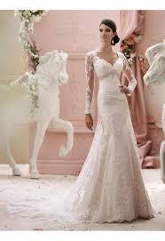 robe mariã e manche longue robes de mariée en dentelle manche longue traîne courte élégant et