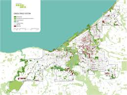 map of cleveland cleveland design map of cleveland s green systems