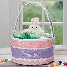 easter baskets easter embroidered soft easter baskets pink purple