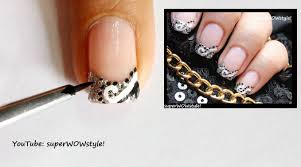 abstract french tip nail art how to do french manicure nail