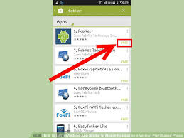 how to get apps on android how to get an android app similar to mobile hotspot on a verizon