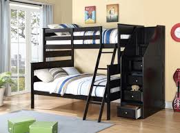 twin full bunk bed with storage ladder
