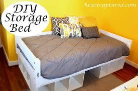 Simple Wood Platform Bed Plans by Bed Frames Twin Platform Bed Diy Platform Storage Bed Solid Wood