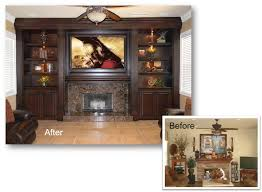 entertainment center custom cabinet home theater built in