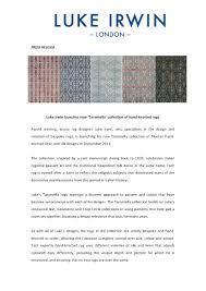 Luke Irwin Rugs by Tarantella Collection By Luke Irwin Cover Magazine Carpets