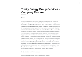 resume companies energy services company resume visual ly