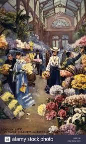 covent garden flower market london ladies purchasing flowers in