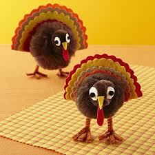 pom pom turkey craft turkey craft thanksgiving and thanksgiving