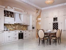 Classic White Kitchen Cabinets Italian Dining Set For Luxurious Kitchen Ideas Using Classic White