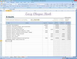 Windows Spreadsheet Easy Cheque Book Template Excel Finance Spreadsheet Money