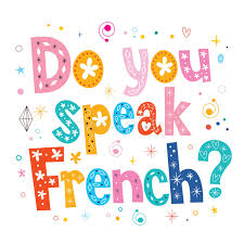 do you speak french decorative lettering text stock photo image