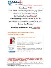 free braindump2go latest 70 243 exam questions 71 80 active