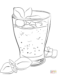 smoothie coloring page free printable coloring pages