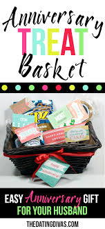 anniversary gift basket printable snack notes anniversary gift baskets anniversary