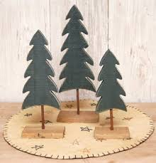 Amazon Green Wood Pine Tree Distressed Country Primitive