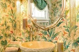 hot summer trend 25 dashing powder rooms with tropical flair hot summertime trend 25 dashing powder rooms with tropical flair